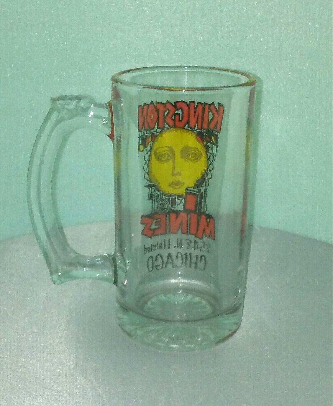 KINGSTON MINES Glass Mug / Chicago / Blues Nightclub / Lincoln Park RARE