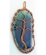 Tree Of Life Agate Copper Wire Wrap Pendant 84 - $10.25