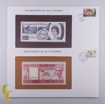 1979 St Helen 50 Pence & 1977 Cape Verde 100 Escudos Banknotes of all Na... - $34.65