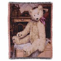 Gund Baby Teddy Bear Throw Blanket Tapestry Vintage Look Home Nursery Gift - $18.66