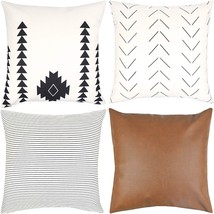 HOT - Decorative Throw Pillow Covers ONLY for Couch, Sofa, or Bed Set 4 - $39.99