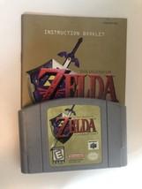 Legend of Zelda Ocarina of Time OOT (Nintendo 64, 1998) with Manual. - $31.67