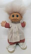 "Russ Troll 12"" Vintage Custom Pink Hair White Floral Dress Reebok Shoes ... - $39.59"