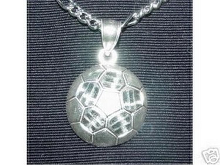 LOOK Genuine Amazing Sterling Silver .925 Soccer ball Sports Pendant Charm Jewel