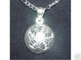 LOOK Genuine Amazing Sterling Silver .925 Soccer ball Sports Pendant Cha... - $23.54