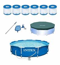 Intex 10 ft pool w/cleaning kit, pool cover and pool filters (6pack) - £733.21 GBP
