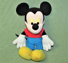 "Fisher Price Mickey Mouse Stuffed Animal Doll 14"" Disney Red Shirt Blue Shorts - $20.57"
