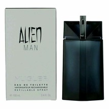 Alien Man by Thierry Mugler, 3.4 oz EDT Spray Refillable for Men - $60.89