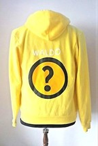 American Apparel Sweater Hoodie Yellow  Who's Waldo? Unisex Size M Cotton - $14.49
