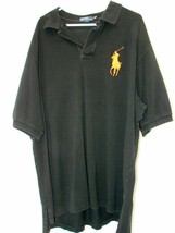 Mens Polo by Ralph Lauren S/S Polo Golf Shirt Size 3XLT Big Pony 2013 Black Tall - $31.78