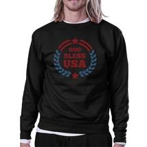 God Bless USA Unisex Graphic Sweatshirt Black Round Neck Pullover - $20.99+