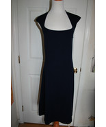 Ralph Lauren Black Label Collection Navy Wool Dress.Size L (NWT) Retail ... - $419.00