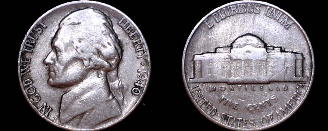 Primary image for 1940-P Jefferson Nickel