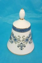 Antique/Vintage Blue/White Porcelain Bell w/ Gold Trim by Royal Doulton - $24.75