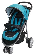 Graco Stroller Aire 3 Wheel Click Connect Blue Lightweight Single Seat - $160.99