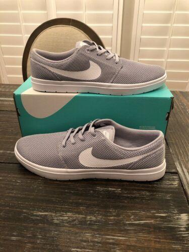 Nike Portmore Ultralight Wolf Grey White Fashion Sneaker Mens Size 11.5 NEW BOX