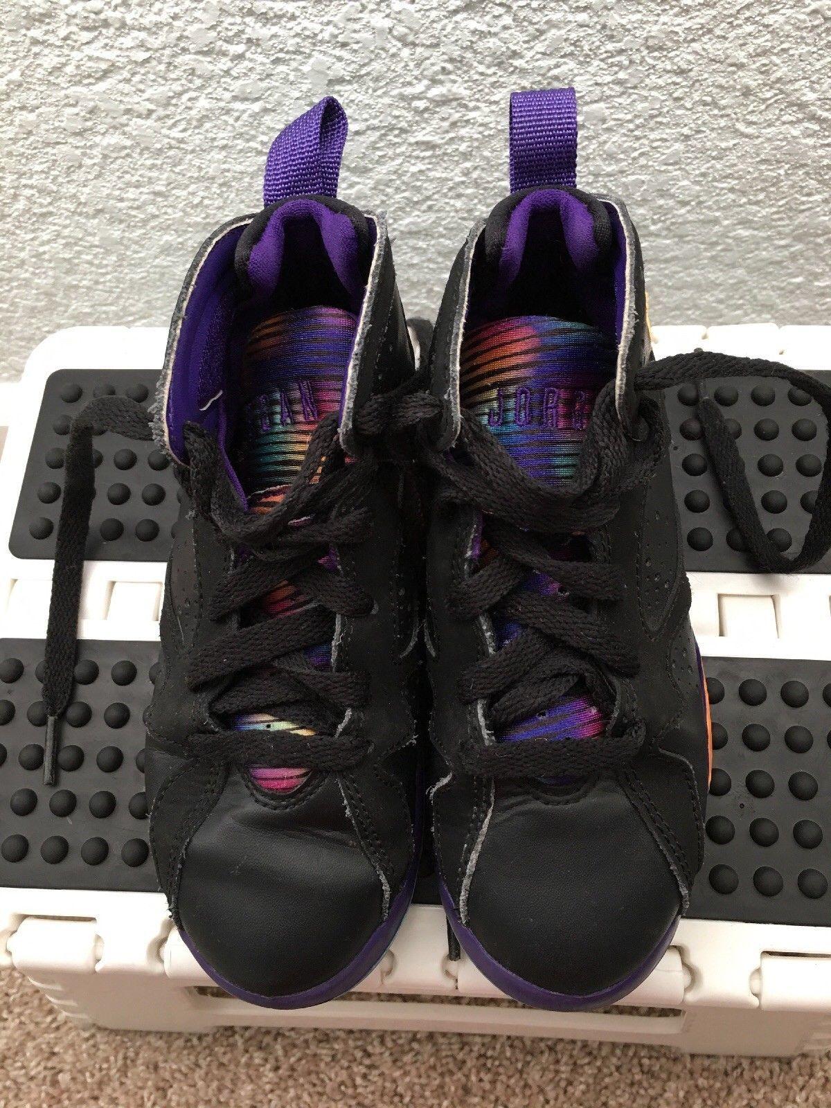 aac0ec257aa160 Air Jordans Retro 7 VII Lola Black Purple Orange High Top Sneakers Kids