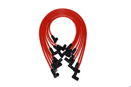 A-TEAM SMALL BLOCK CHEVY SBC 350 RED 8MM HEI SPARK PLUG WIRES UNDER EXHAUST