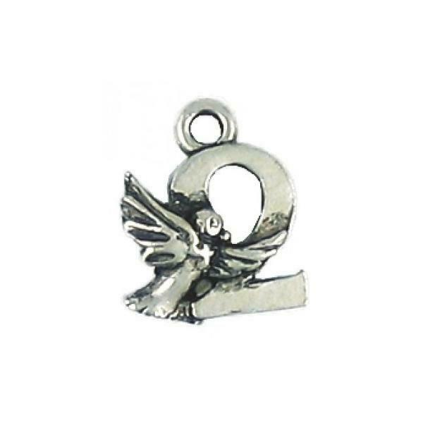 2 Turtle Doves Fine Pewter Charm Pendant - 12mm  X 15mm X 4mm