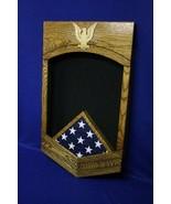 NAVY CHIEF PETTY OFFICER CPO MILITARY AWARD SHADOW BOX MEDAL DISPLAY CASE - $341.99