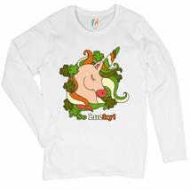 So Lucky! Women's Long Sleeve T-shirt St. Patrick's Day Shamrock Irish U... - $15.01+