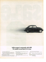 Vintage 1968 Magazine Ad Volkswagen Automatic Stick Shift Easier To Use Than Say - $5.93