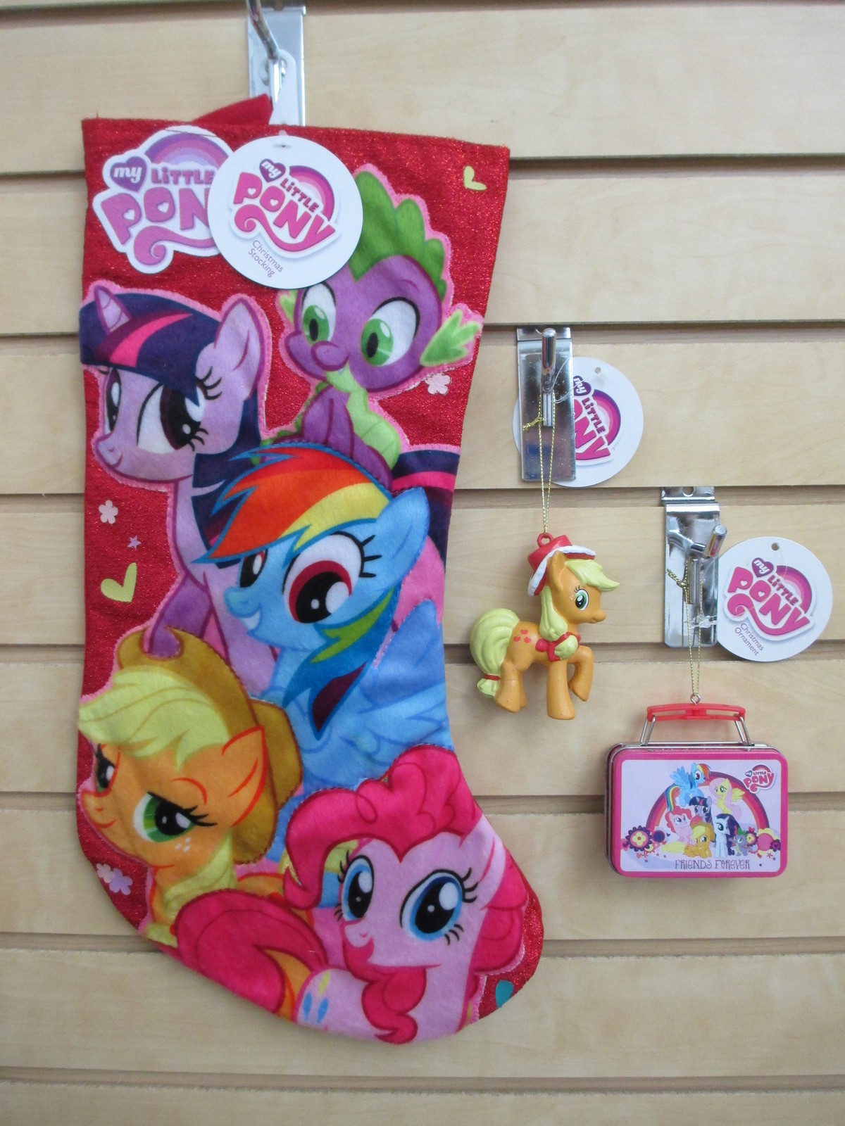 My Little Pony Christmas Stocking & Two Ornaments - Apple Jack & Mini Lunchbox