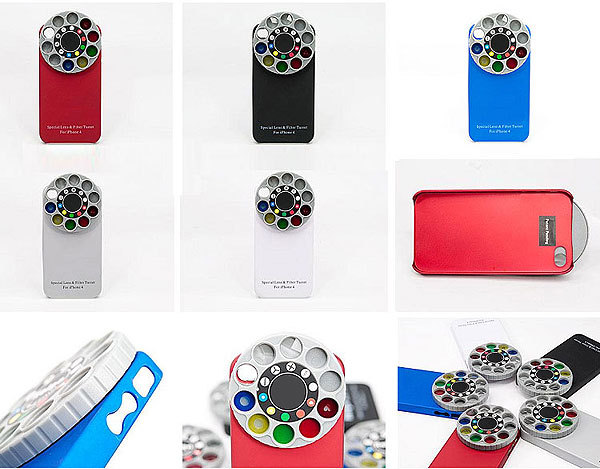 Wonderful Kaleidoscope Special Lens and Filter Turret Back Cover for Iphone 4/4s