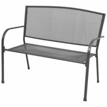 "vidaXL Garden Bench 42.5"" Steel and Mesh Anthracite Outdoor Patio Seat C... - $79.99"