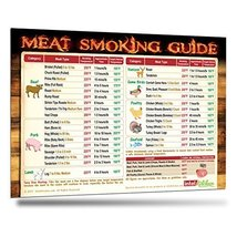 Must-Have Best Meat Smoking Guide Magnet. The Only Magnet Covers 31 Meat... - $24.99