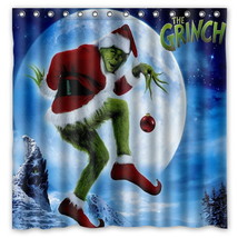 Polyester Fabric Bath Shower Curtain How the Grinch Stole Christmas Waterproof  - $46.89