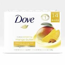 Dove Beauty Bar To Moisturize Dry Skin With Mango Butter More Moisturizi... - $20.47