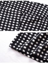 Women's Trendy Black and White 90s Street Retro  Check Sundress image 2