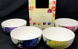 Set of 4 Roscher Soup Cereal Bowls Floral Collection Bone China Brand Ne... - $44.99