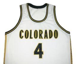 Chauncey Billups College Basketball Jersey Sewn White Any Size image 4