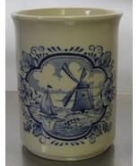 ENGLISH IRONSTONE TABLEWARE Blue Cup Mug Bathroom Glass Boat Windmill En... - $20.00