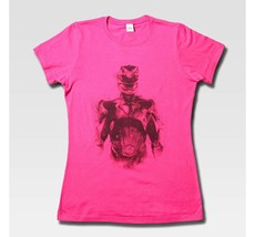 NWT Women's (Juniors) Mighty Morphin Power Rangers T-Shirt Fuschia Size ... - $4.45