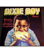 Classic Americana! Dixie Boy Crate Label, 1930's  - $3.89