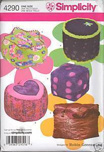 New Robin Greenwood Floor Pillows Simplicity 4290 Sewing Pattern Simplicity