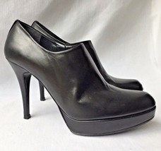 $470 Stuart Weitzman Black Modern Sexy Leather Platform Stiletto Booties Boots 8 - $168.29