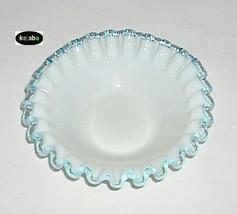 "Fenton Aqua Crest Bowl 5 1/2"" Vintage - $14.95"