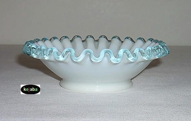 "Fenton Aqua Crest Bowl 5 1/2"" Vintage"