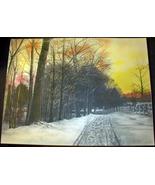 Vintage Snowy Road Art Print, F.M. Stone, 1912 - $9.99