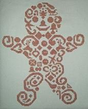 Gingerbread Man monochrome cross stitch chart White Willow stitching - $4.95