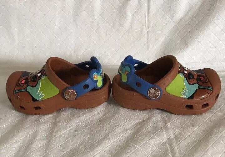 ba64758d54b Crocs Toddler Kids Scooby Doo Clogs Brown Size 4-5 Slip On Shoes w