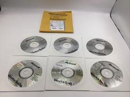 MICROSOFT WORKS SUITE 2001 encarta 6 CD set COA & Product Key Software - $14.50