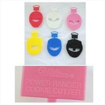 Wilton Power Rangers Cookie Cutters Full Set Lot 6 Colors Original 90s N... - $59.99
