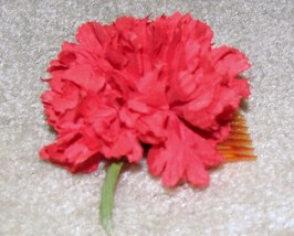 Vintage '70's Unique Red Flower Hair Comb - $6.95