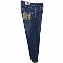 Laguna Beach Jean Company Destroyed Distressed Jeans Eagle Flap Pockets ... - $43.99