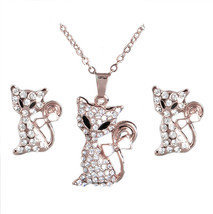 H:HYDE Nice Shipping Jewelry Sets Gold Color Cute Fox Austrian Crystal N... - $11.35